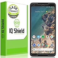 Google Pixel 2 XL Screen Protector [Not Glass][2-Pack], IQ Shield LiQuidSkin Full Coverage Screen Protector for Google Pixel 2 XL [Case-friendly][HD Clear][Anti-Bubble][Anti-Scratch]