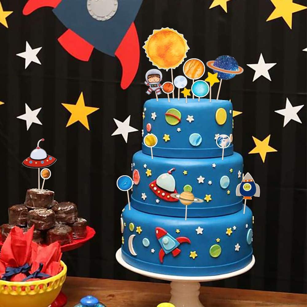 MMTX Happy Birthday Deko Luftballons Geburtstagsdeko Jungen 1 Jahr mit Happy Birthday Girlande mit Rocket Astronaut Moon Folienballon f/ür Babyshower Boy 2 3 5 10 Kindergeburtstag Dekoration