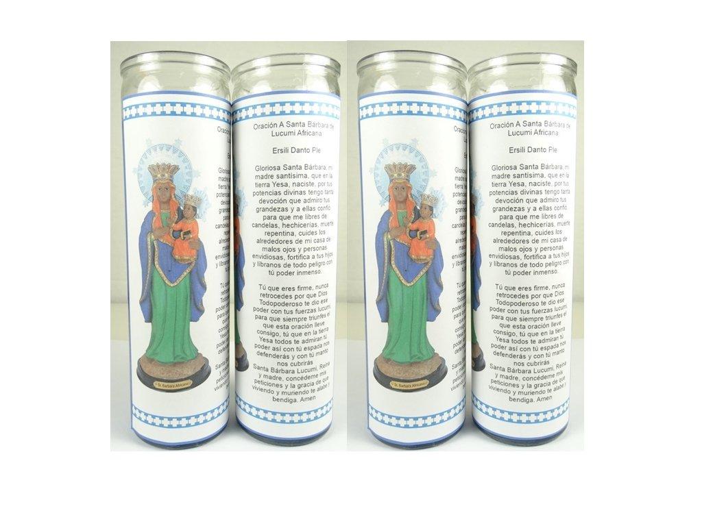 Santa Barbara Africana Lucumi Santeria Mama Mambo Ezili Danto Haitian Vodou Sets De 2 O 4 Velas (2) (4)