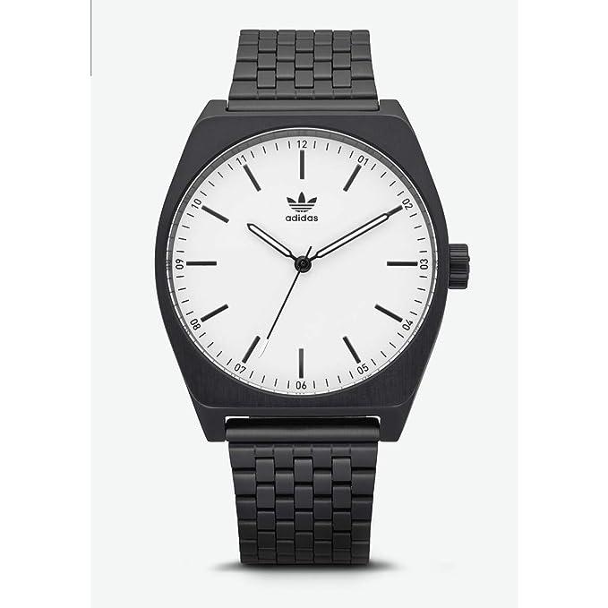 Adidas Reloj Analógico para Hombre de Cuarzo con Correa en Acero Inoxidable Z02-005-00: Amazon.es: Relojes