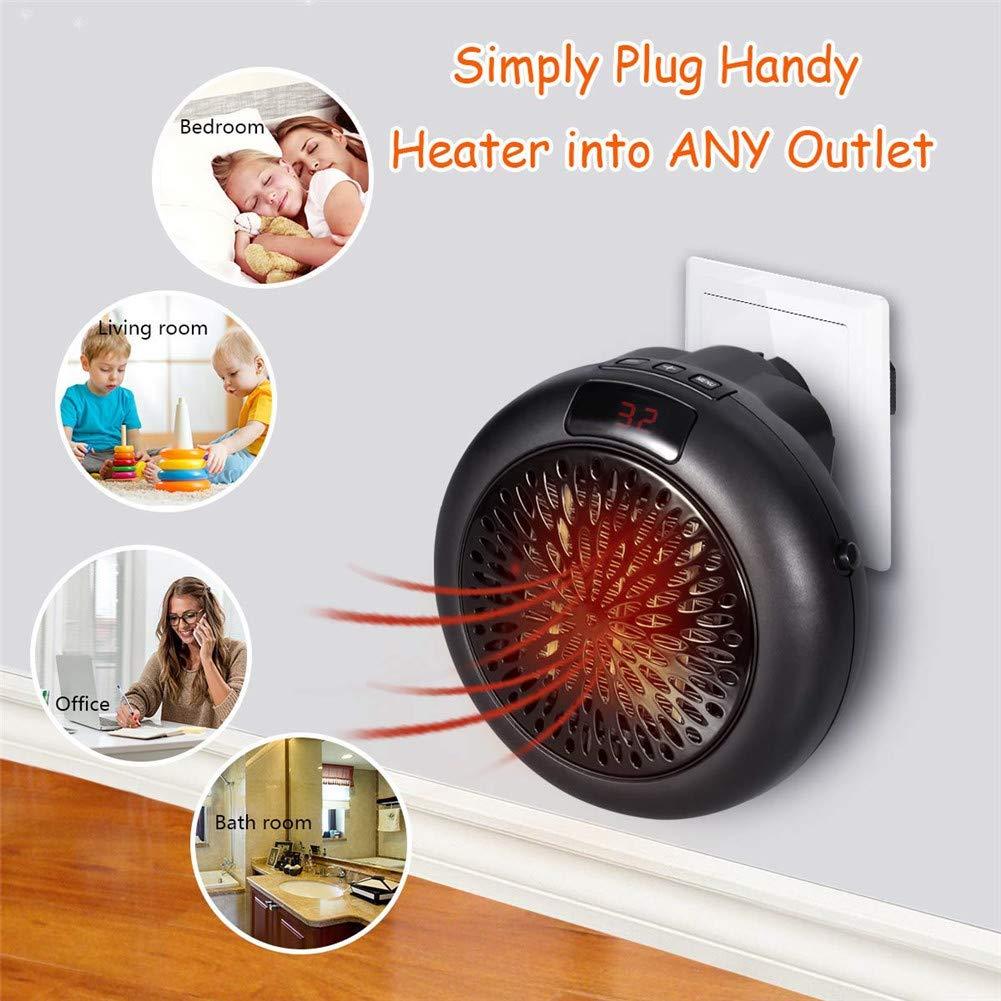 Heater Calefactor Electrico Estufa Ceramico - Mini Portátil Termoventilador 1000W Bajo Consumo Temperatura Regulable Baño Casa Oficina Enchufe UE ...