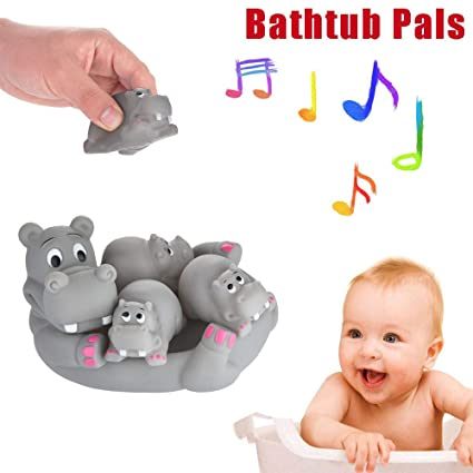 Mermaid Family Bath Toy Kid Baby Toddler Bathtub Pool Water Squirt Squeak Toy