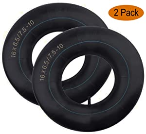 16x6.5-8/16x7.5-8 Inner Tube with TR-13 Straight Valve Stem Replacement for Tractor Golf Cart Garden Trailer Snowthrowers, Tillers, Trailers, Wheelbarrows ATV and Lawn Mower Inner Tire Tube