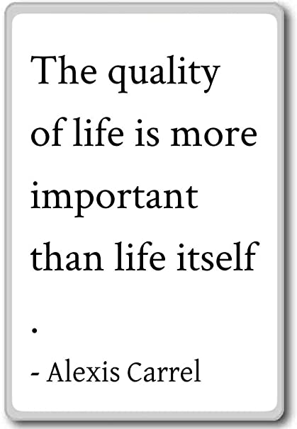 Amazon Com The Quality Of Life Is More Important Than Li