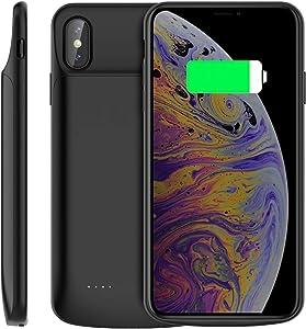 Noir iPhone Xs Max Charging Case - 6000mAh - Protected Edges & LED Indicator