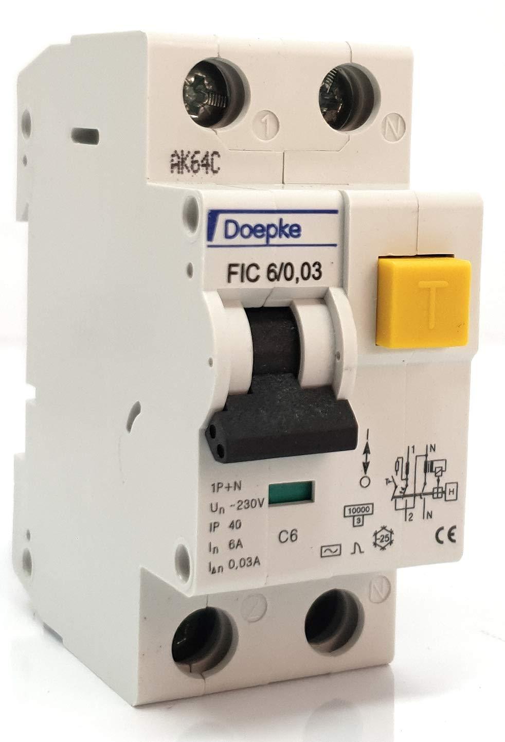 Crabtree Polestar C16 16Amp Type C Single Pole MCB BS3871 Disjoncteur