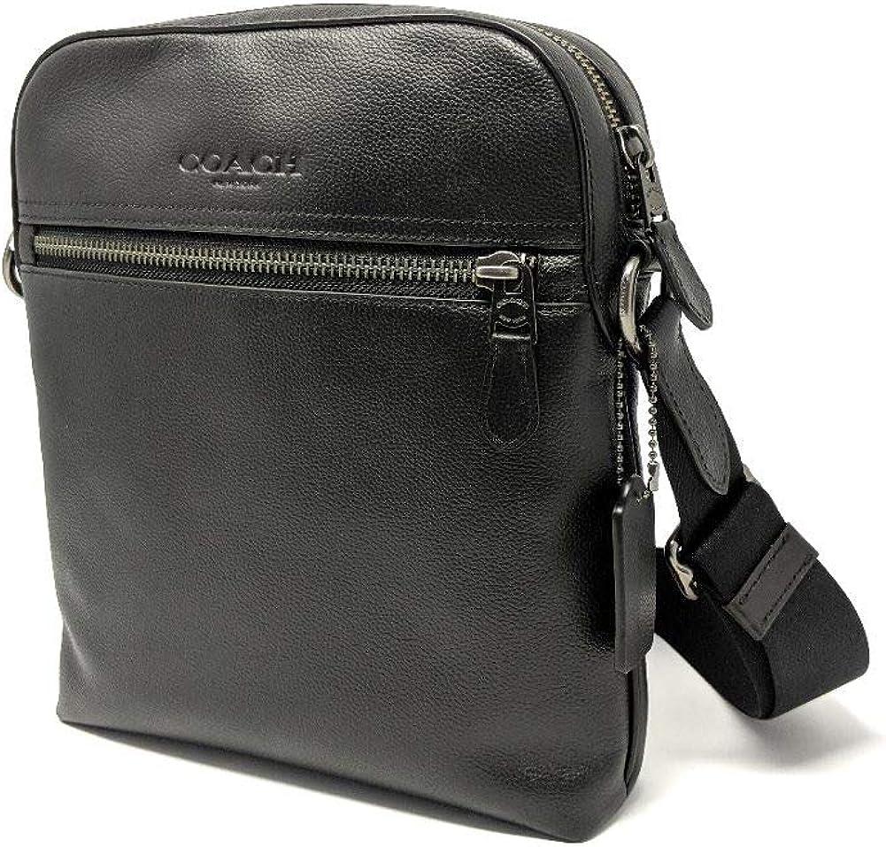 Coach Houston Flight/Messenger Bag Smythe Leather (Black)