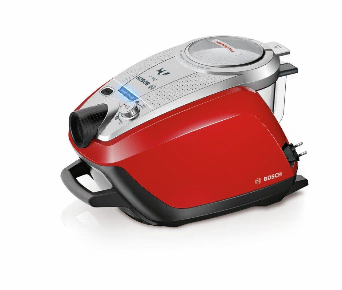 Bosch BGS5335 Zooo ProAnimal - Aspirador sin bolsa especial mascotas, tecnología SensorBagless, 800 W, con auto limpieza del filtro, color rojo: Bosch: ...