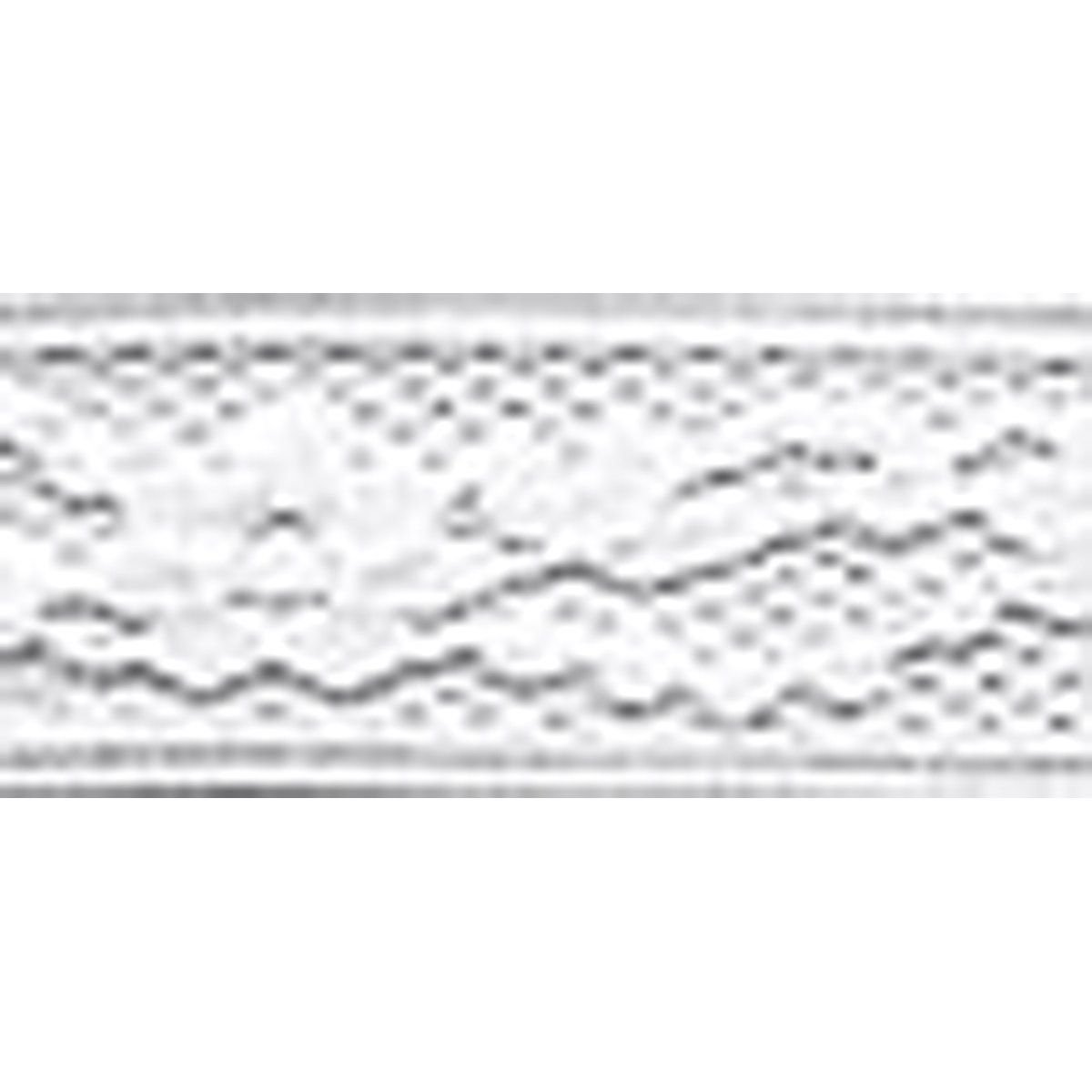 Wrights 117-305-030 Flexi Lace Hem Tape, White, 3-Yard Notions - In Network