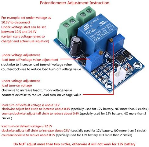 Shutdown Battery over-discharge Low-voltage Module Low-power Protection Board