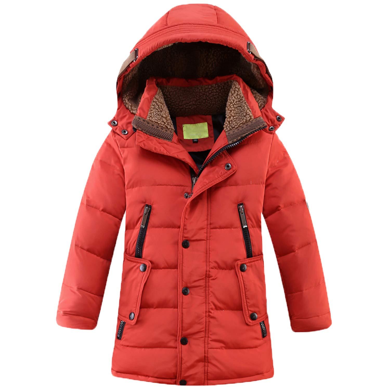 CARETOO Bambini Giubbotto Piumino Invernale Ragazzi Ragazze Leggero Impermeabile Cappotto con Cappuccio