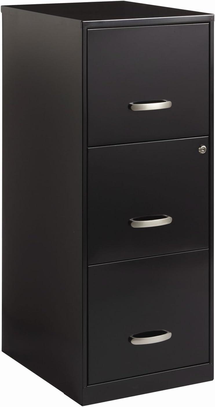Amazon Com Black Metal 3 Drawer Vertical Filing File Cabinet With 2 Locking Drawers