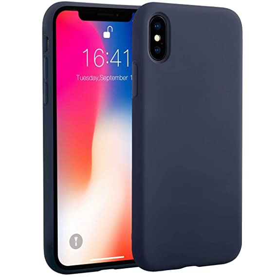 timeless design 76b72 711e7 iPhone X Silicone Case, iPhone X Silicone Case Miracase Silicone Gel Rubber  Full Body Protection Shockproof Cover Case Drop Protection for Apple ...