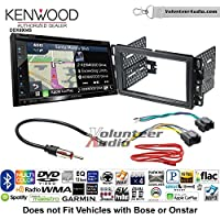 Volunteer Audio Kenwood Excelon DNX694S Double Din Radio Install Kit with GPS Navigation System Android Auto Apple CarPlay Fits 2007-2013 Silverado, Avalanche