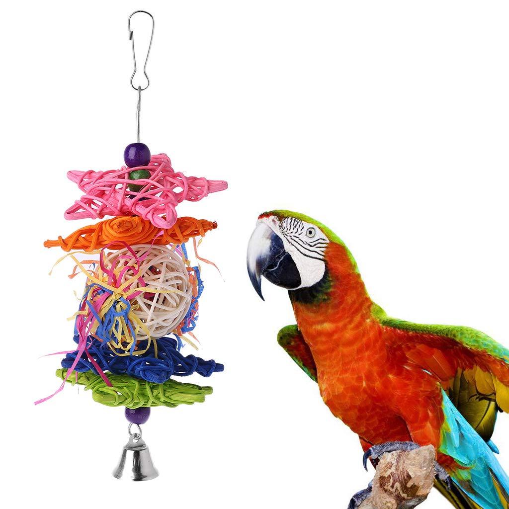 Fogun ratán Bolas kauspielzeug para pájaro Papagayo African Greys ...