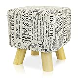 4 Foot Square Ottoman DL furniture - Ottoman Foot Stool Square Shape, 4 leg Stands | Linen Fabric, Pattern