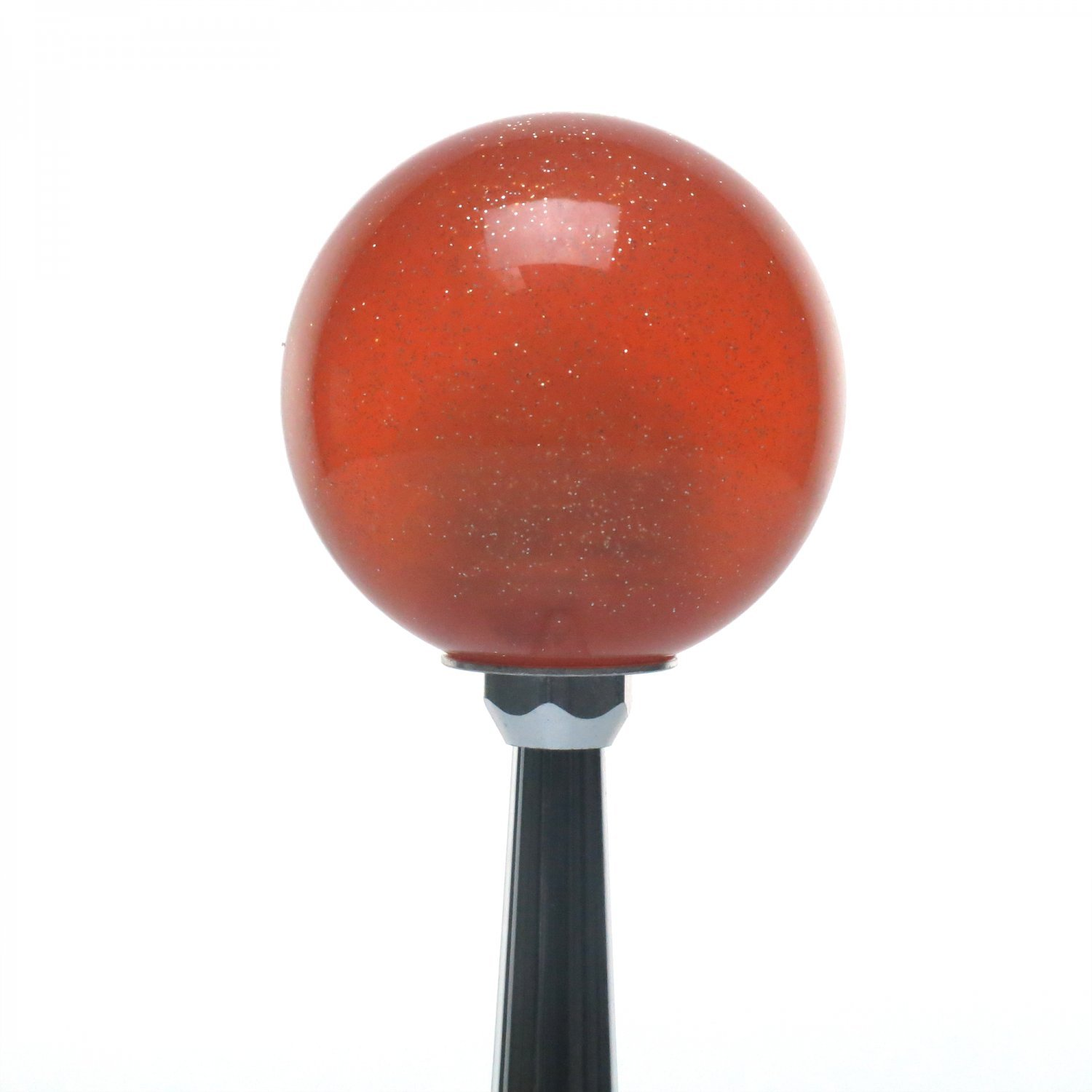 American Shifter 285272 Shift Knob Blue 5 Speed Shift Pattern - Prison Ticket Orange Metal Flake with M16 x 1.5 Insert