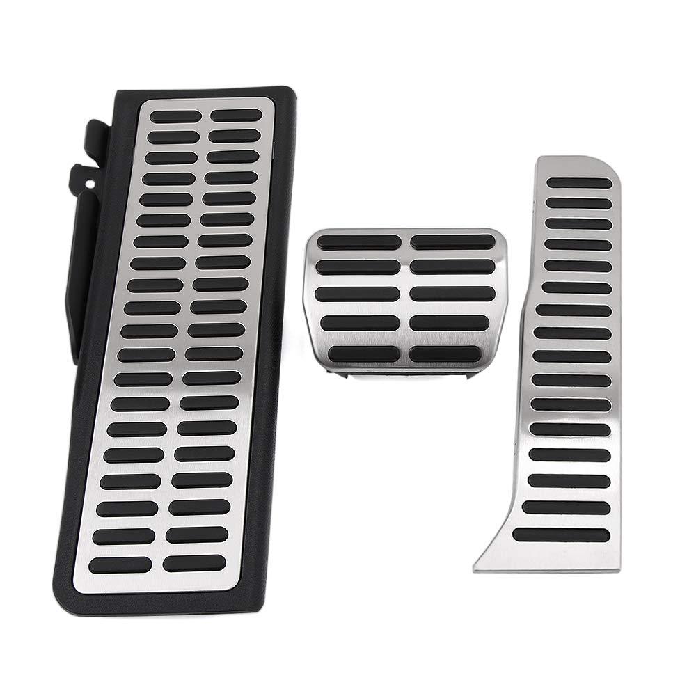 para Audi Q3 2013-2018 LHD Accesorios de dise/ño de autom/óviles WHKOBM Pedal de Aluminio del reposapi/és del Coche Pedales de Freno de Gas Combustible Placa de Almohadilla