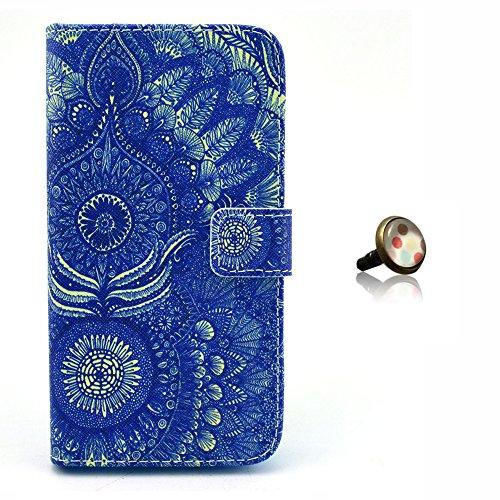 PowerQ [ para IPhoneSE IPhone 5S SE 5G 5 IPhone5 IPhone5S - 7 ] PU Funda Serie bolsa Modelo colorido con bonito hermoso patrón de impresión Impresión Dibujo monedero de la cartera de la cubierta móvil 34