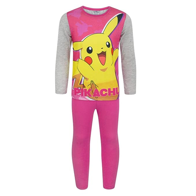 Pokèmon - Pijama Modelo Pikachu para niñas (5-6 Años) (Rosa): Amazon.es: Ropa y accesorios