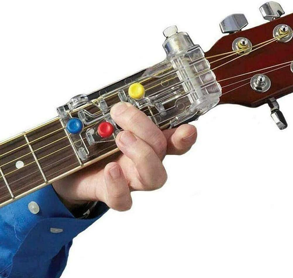 Guitar Learning System Teaching Aid Practice Tool Guitar Chordbuddy Unit for Electric Guitars