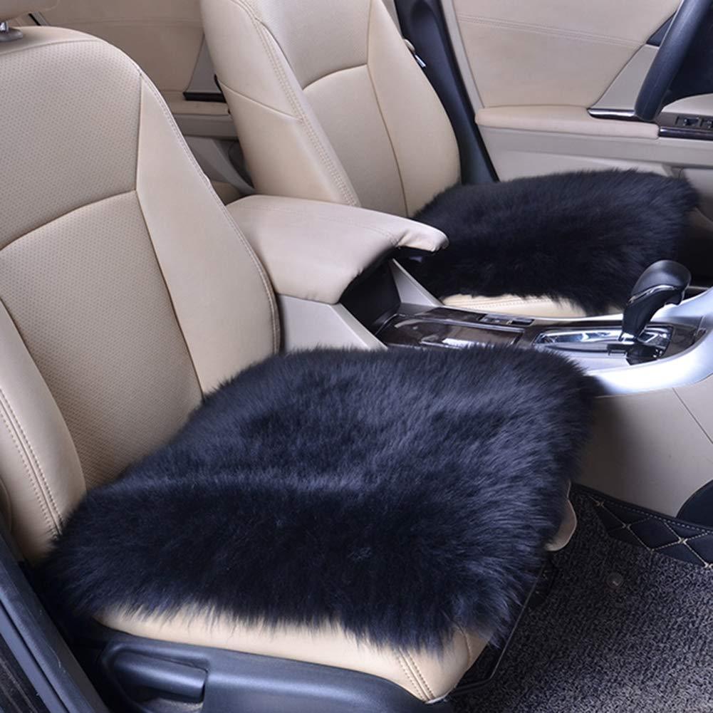 Cojín del asiento de coche de las lanas, cubierta cómoda y ventilada del asiento de coche, hogar antideslizante universal de invierno cubierta de asiento ...