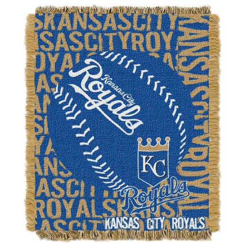 The Northwest Company Officially Licensed MLB Kansas City Royals Double Play Jacquard Throw, 48