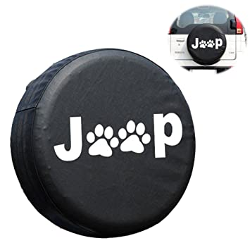 Amazon Com Jeep Spare Tire Cover Eigiis Leather Waterproof Dust