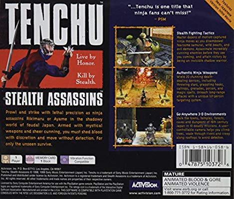 Amazon.com: Tenchu: Stealth Assassins: Unknown: Video Games