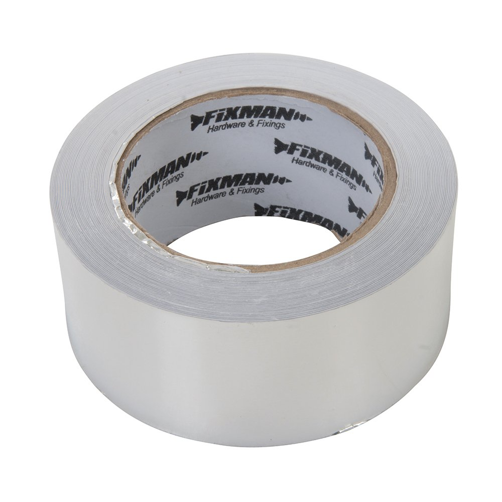 Fixman 190288 Silver Aluminium Foil Adhesive Tape 50mm x 45m