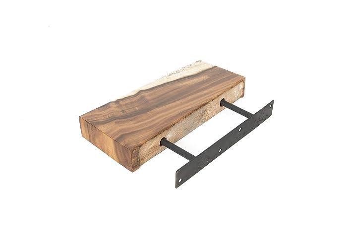 amazon com live edge wood floating shelves handmade rh amazon com