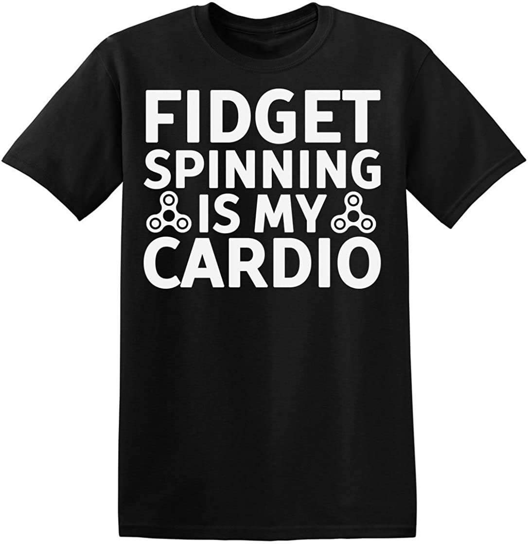 Fidget Spinning Is My Cardio Camiseta para hombre XX-Large: Amazon ...