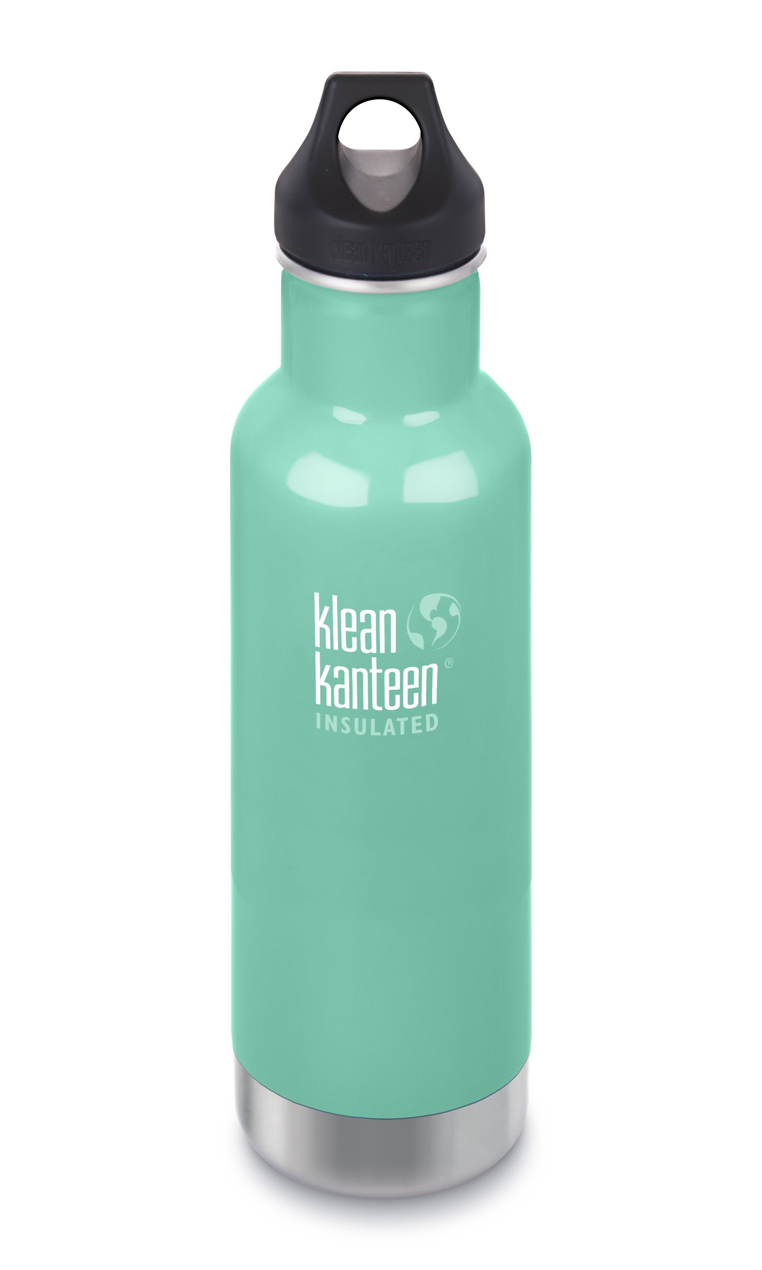 Klean Kanteen Classic Insulated Stainless Steel Water Bottle with Klean Coat and Leak Proof Loop Cap - 20oz - Sea Crest