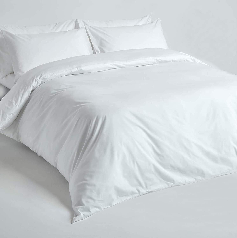 King Slumber Suite Luxury 100/% Cotton 200 TC Duvet Cover White