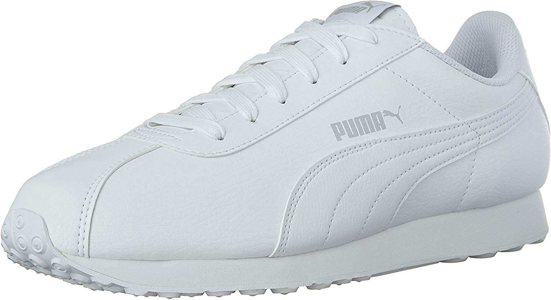PUMA Men/'s Turin Black Leather Sneakers Athletic Tennis Shoe