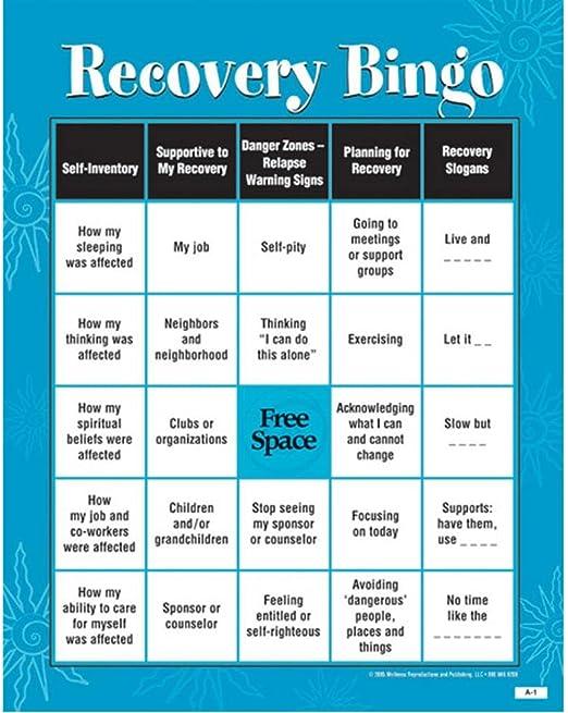 Recovery bingo pdf