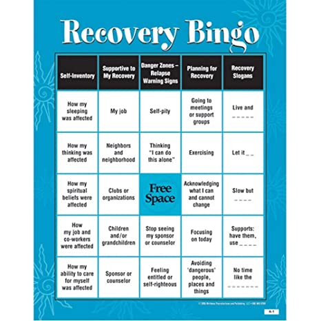 Amazon Com Recovery Bingo Game For Adults Toys Games