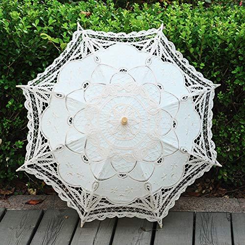 ESHOO Vintage Umbrella Cotton Lace Parasol Bridal Wedding Party Decoration