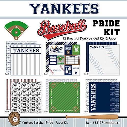 Scrapbook Customs Yankees Pride Baseball Scrapbook Kit