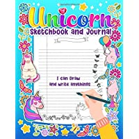 "Unicorn Sketchbook and Journal: Composition Notebook and Journal for Kids, Teens and Girls | Large Size (8.5"" X 11"") with Blank Sheet and Wide Ruled Lined Paper, Sketching, Doodling and Writing"