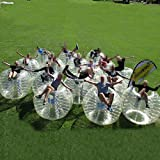 AmazingsportsTM 16 Balls Bubble Soccer Balls with 1 Electric Air Pump Suit Cheap dia 5' 1.5m for Adults Transparent PVC(1.2m 1.7m available)
