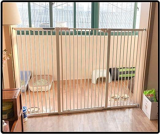 QIANDA Barrera Seguridad Niños Protector Escaleras Bebe Extra Alto 120cm Puerta Fuerte for Perros Grandes La Seguridad Cerca Se Adapta A Las Puertas, Todo El Ancho 69 ...