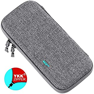 Ultra Slim Carrying Case for Nintendo Switch, VUP Switch Hard Cover Portable Protective Travel Shell for Nintendo Switch Console & Accessories with 8 Game Cartridges - Gray