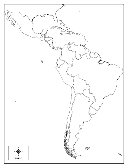 Amazon.com: Laminated Map - Study Helps Us Map Test Blank ...