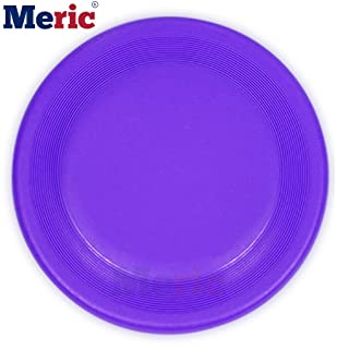 Dog Frisbee - Violet Flying Disc - Lightweight & Waterproof Plastic - Aerodynamically Designed Fast Flying Object - for Use in Land, Water & Air - Interactive Toy for Small, Medium & Large Pets