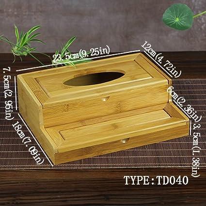 Generic 8 tipos Tejido cajas Generic Creative servilleta soporte de almacenamiento de bambú Natural caja de