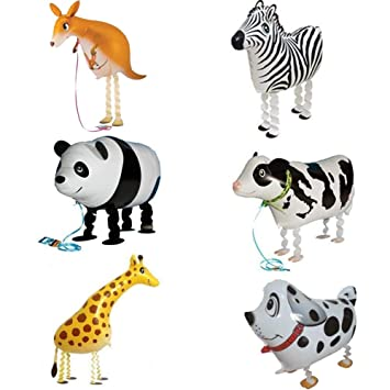 1//6Pcs Animal Kids Walking Foil Pet Balloon Helium Children Birthday Party Decor