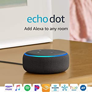 Certified Refurbished Echo Dot (3rd Gen) - Smart speaker with Alexa - Charcoal
