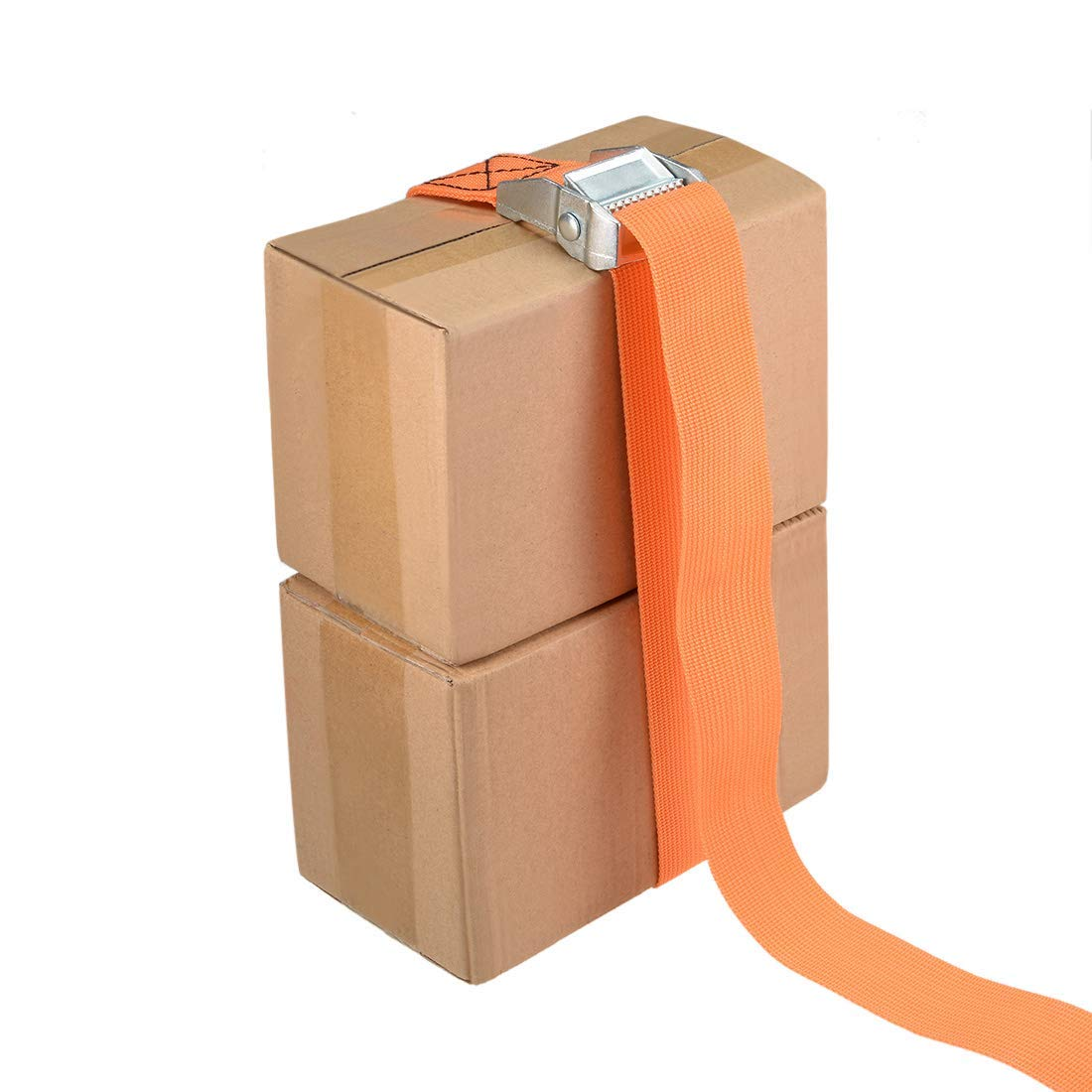 Mooring Strap 1.5-inch x 13-Foot Cargo Lashing Straps with cam Locking Buckle Up to 1100 lb Orange 4 Pieces