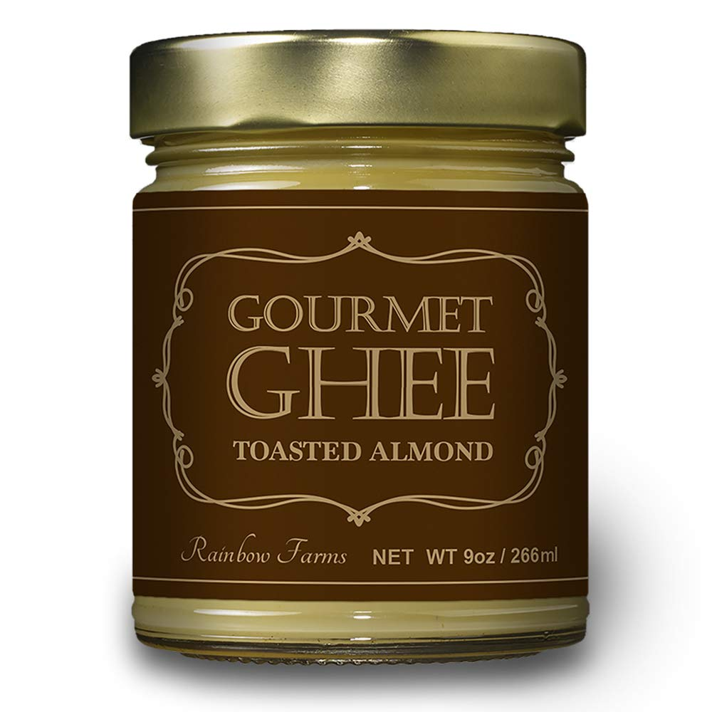 Almond Grass-Fed Gourmet Ghee Butter 9 oz / 266 ml Pasture-Raised French Butter, Non-GMO, Keto Friendly,, Made In USA by Rainbow Farms (2)
